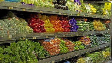 supermarket vegetable section